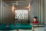 Frank Ward: Girl in Shooting Gallery, Osh, Kyrgyzstan, 2012