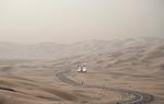 Jeffris Elliott: Billboard of Two Sheiks in Desert, 2008