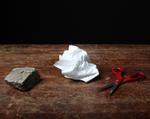 Justine Reyes: Still Life with Rock, Paper and Scissors