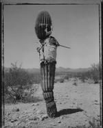 Mark Klett: Saguro with Shirt, U.S. - Mexico Border, 1993